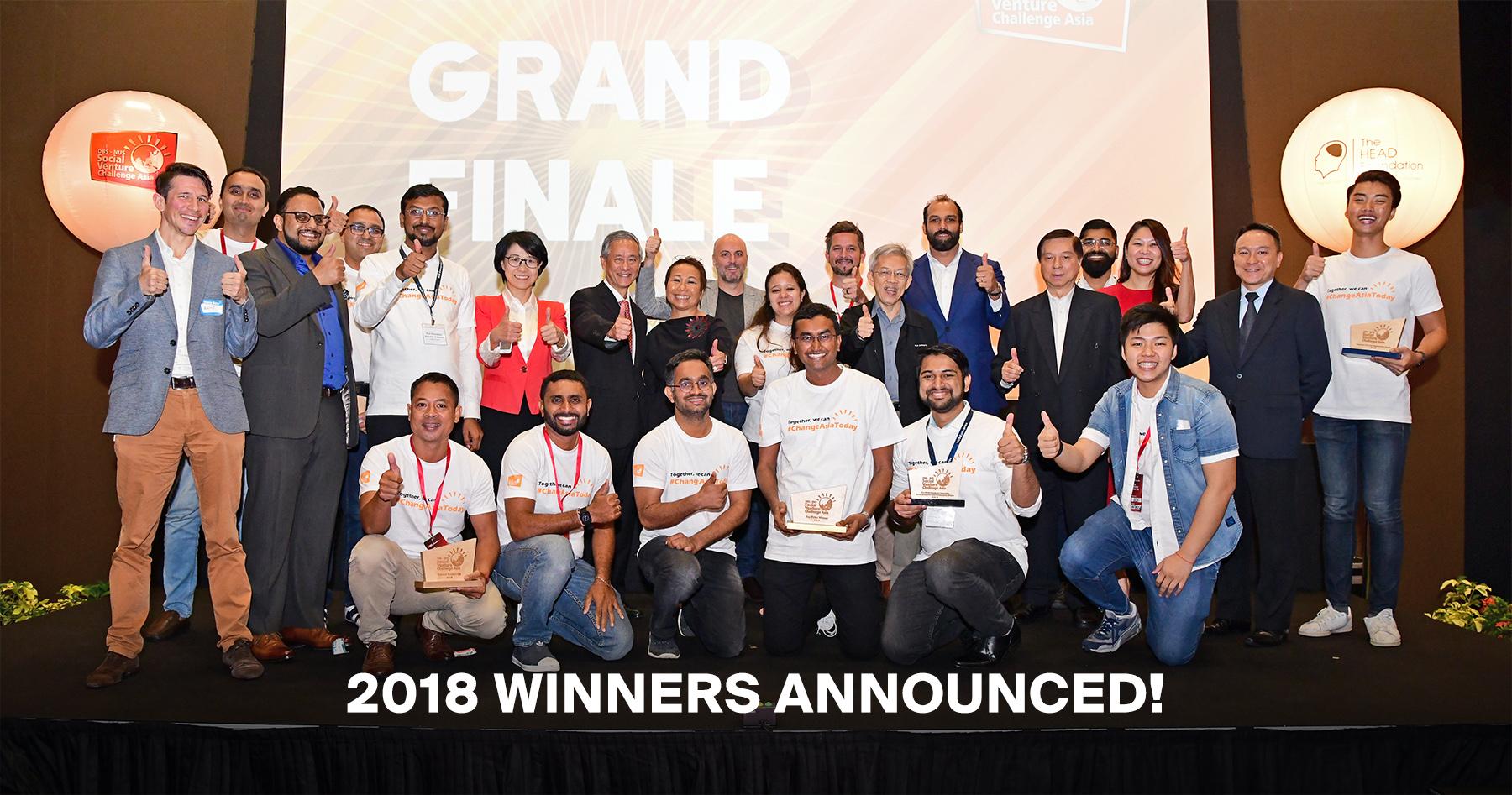 [DBS-NUS Social Venture Challenge Asia] 2018 Winners Announcement!